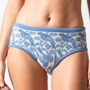 S new KNITTY KITTY blue songbird panties knickers